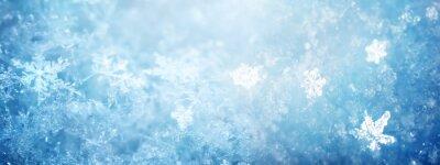 Fototapeta Śnieg w zimie z bliska. Makro- wizerunek płatki śniegu, zima wakacje tło.
