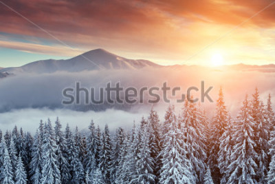 Fototapeta snovy mountain w czasie zimy