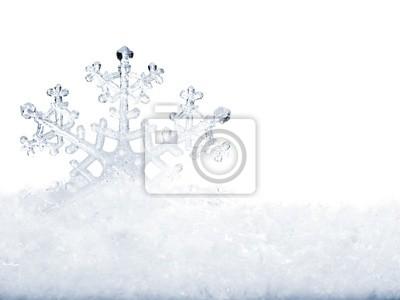 Snowflake w śniegu.