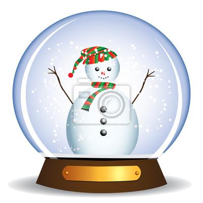 Snowman w świecie szklanej kuli