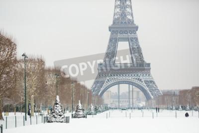 Fototapeta Snowy dni w Paryżu