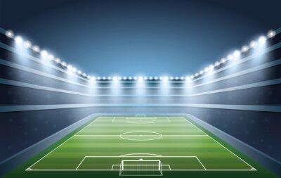 Fototapeta Soccer Stadium ze światła punktowe.