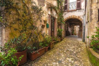 Fototapeta Solar starożytne miasto i ulice pięknej Toskanii, Ita