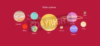 Fototapeta Solar System ikona stylu płaska.