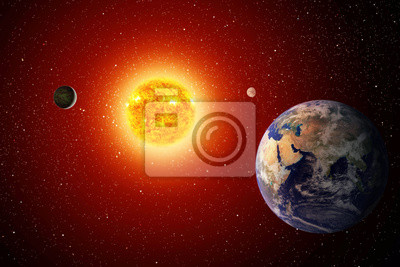 Solar System (obrazy Kolaż z www.nasa.gov)