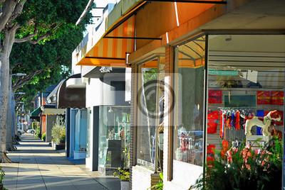 Fototapeta Some small shops along Robertson Blvd in Los Angeles.