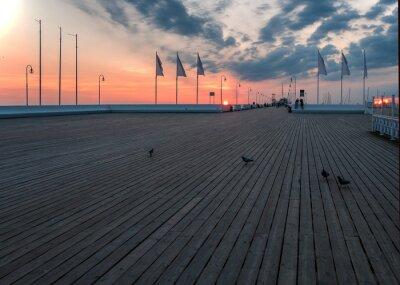 Fototapeta Sopot piere at sunrise