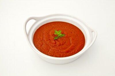 Fototapeta Sos pomidorowy w misce