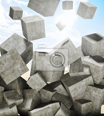 Fototapeta spadające kostki