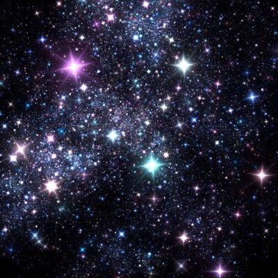 Sparkle niebieskie gwiaździste nocne niebo. Fantasy b? Yszcz? Ce t? O dla Bo? Ego Narodzenia wzorów. Sztuka fraktalna