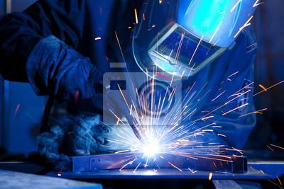 Fototapeta Spawarka do budowy stali technicznych
