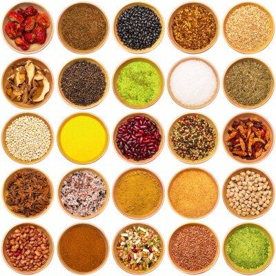 Fototapeta spezie aromi ingredienti kolaż