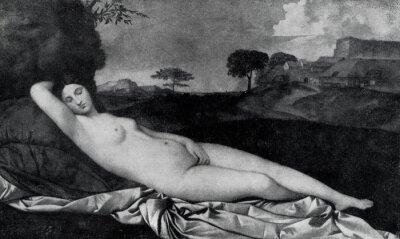 Fototapeta Śpiąca Wenus (Giorgione, ok. 1510)