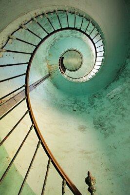 Fototapeta spiralne schody latarnia