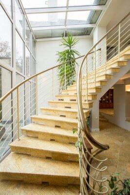 Fototapeta Spiralne schody marmurowe