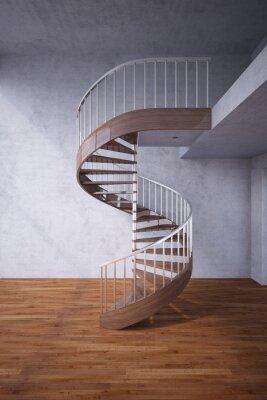 Fototapeta Spiralne schody w domu