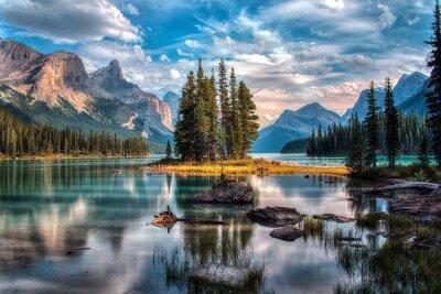 Fototapeta Spirit Island - Maligne Lake - Jasper National Park