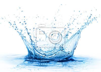 Fototapeta Splash - Świeży Kropla W Wodzie - Zamknij się