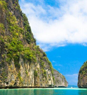 Fototapeta Spokojne Bay Lagoon Góry