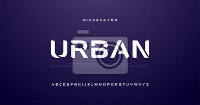 Fototapeta sport future curve, wave modern alphabet fonts. technology typography urban font and number uppercase. vector illustration