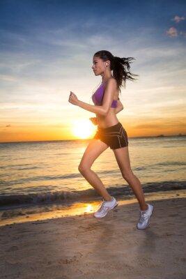 Fototapeta sportowiec kobiet runner, rano pobiegać