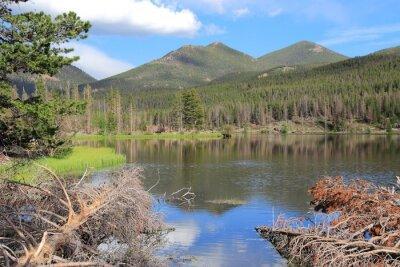 Fototapeta Sprague Jezioro w Górach Skalistych