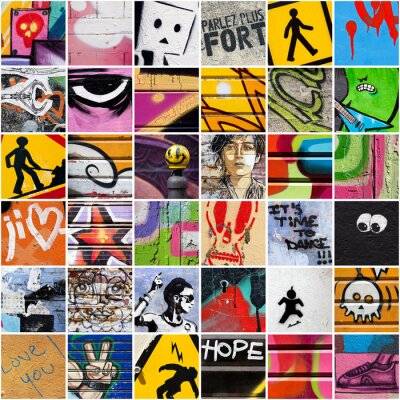 Fototapeta Square Street Art