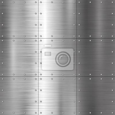 Srebna metal tekstury tła wektoru ilustracja