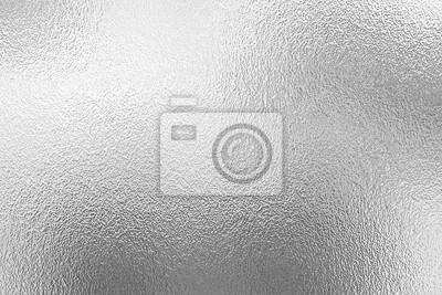 Fototapeta Srebrna folia tekstur