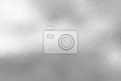 Fototapeta Srebrna folia tekstury tła