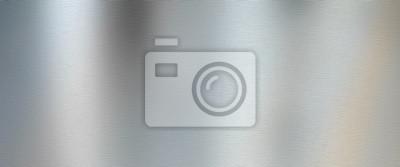 Fototapeta Srebrna szczotkowana metalowa konsystencja