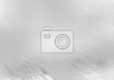 Fototapeta Srebrny folia tekstury tła