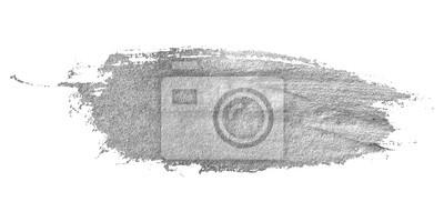 Fototapeta Srebrny plamy na białym tle.