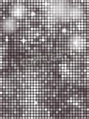Fototapeta Srebrny prostokąt mozaika