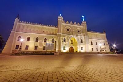 Fototapeta Średniowieczny zamek królewski w Lublinie w nocy, Polska