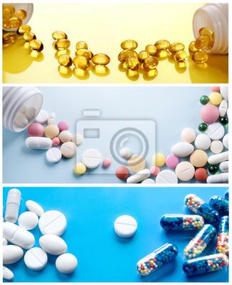 Środki farmaceutyczne collection. Background Zdrowie