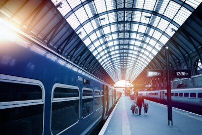 Fototapeta stacja kolejowa sztuki