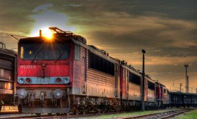 Fototapeta Stacja towarowego martwa natura HDR