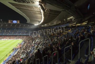 Fototapeta Stadion Camp Nou FC Barcelona domu. Ta noc to, co gra w Lidze Mistrzów Bayern Leverkusen i kierunku Lionel Messi popełnił pięć goli w rzeczywistości Christian Tello meczu wykonana 2. Karim Bellarabi w