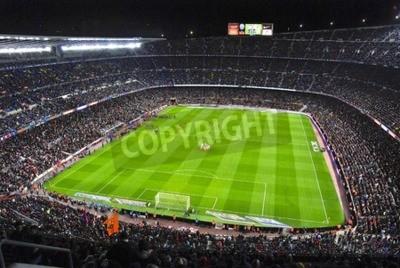 Fototapeta Stadion Camp Nou niewielu chwilę przed kick-off mecz FC Barcelony z Sevillą