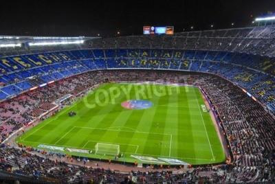 Fototapeta Stadion Camp Nou przed kick-off mecz FC Barcelony z Sevillą