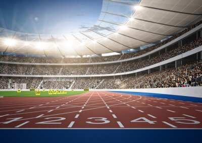 Fototapeta Stadion lekkoatletyczny tor sprint