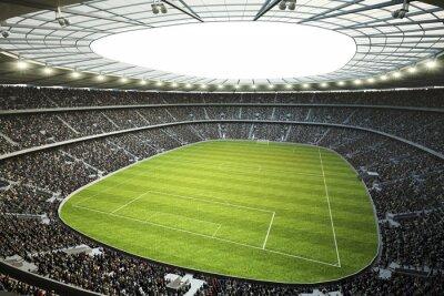 Fototapeta Stadion mit Blick von Oberer Tribüne