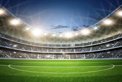Fototapeta Stadium 3 linii środkowej neutralne