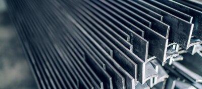 Fototapeta Stainless steel angles or angle bars