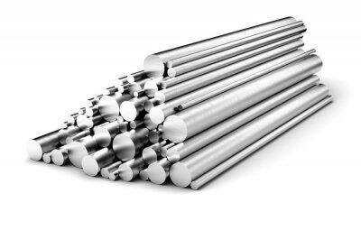 Fototapeta Stainless steel rods