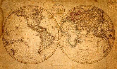 Fototapeta Stara mapa 1799