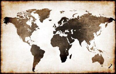 Fototapeta Stara mapa świata