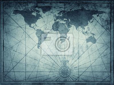 Stara mapa świata. Tło podróży, historii i geografii. Elementy tego obrazu dostarczone przez NASA.