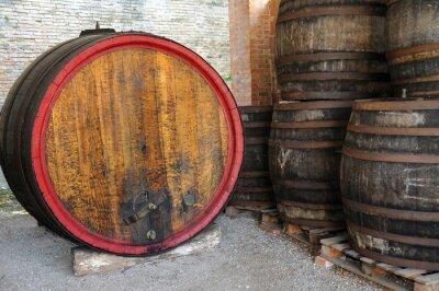 Fototapeta Stare beczki wina